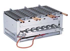 【 業務用 】SAイカたこ焼ガス台 24ヶ型 SAIKA-3型 LPガス 対応