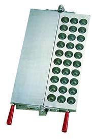 【 業務用 】焼饅頭機用板 たこ焼30穴用 【 メーカー直送/後払い決済不可 】