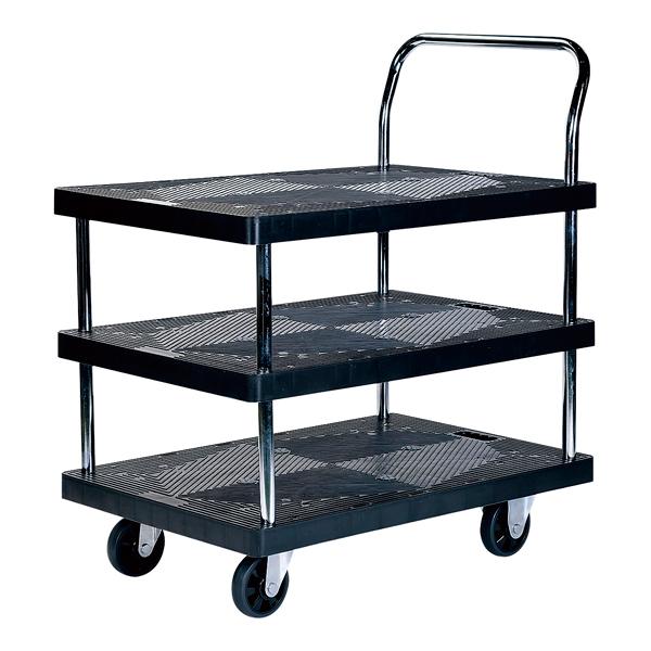 静かな樹脂台車 3段 PH3002P-3 【厨房館】