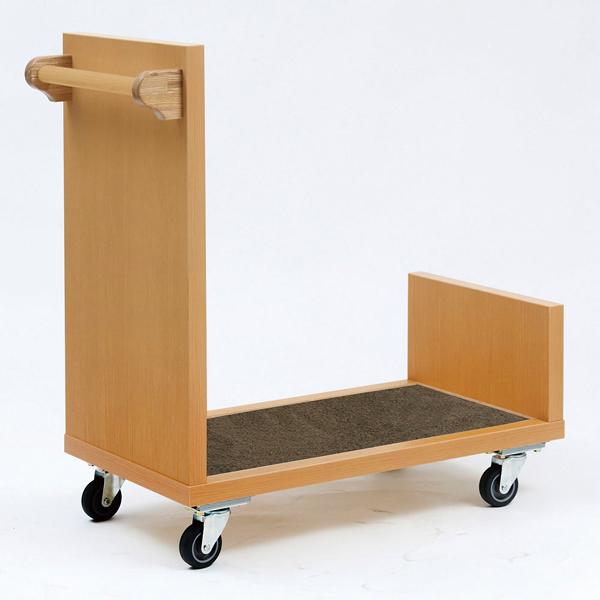 和風木製バゲジカート JW-59J 【 メーカー直送/代引不可 】 【厨房館】