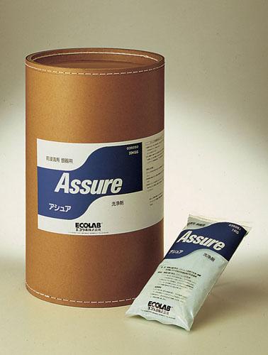 【 業務用 】粉末前浸漬洗浄剤 アシュア [ファイバードラム入]20kg