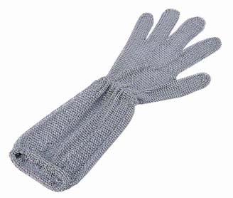 【 業務用 】ロングカフ付 メッシュ手袋5本指 L LC-L5-MBO[3]