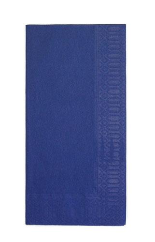 【 業務用 】カラーナプキン 8ッ折[2,000枚入] 45cm 2P ディープブルー 【 業務用