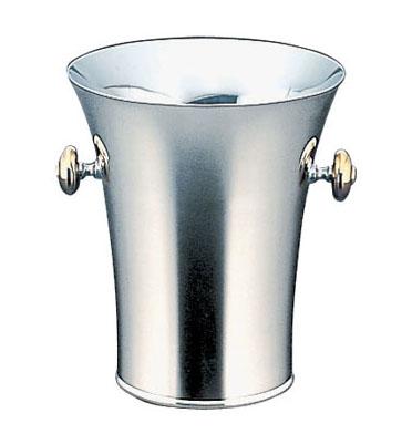 【 業務用 】【 シャンパンクーラー 】 トリオ18-8 ステンレス二重パーティークーラーB型 目皿・トング付