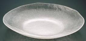 【 業務用 】硝子和食器 白雪22 小判盛込皿[特大]