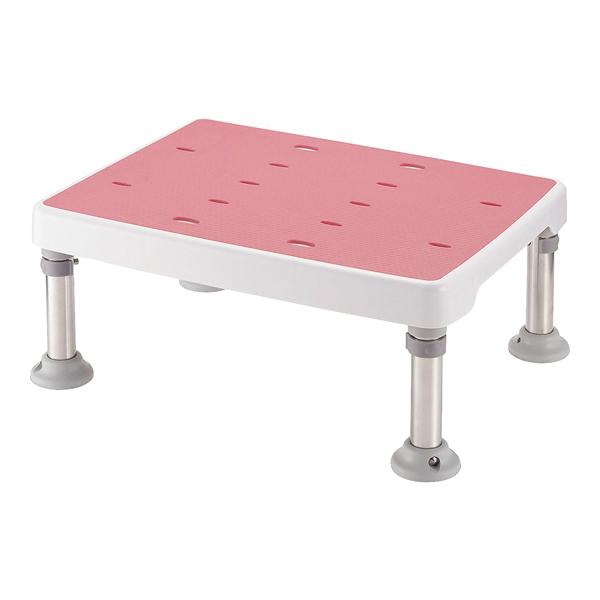 浴そう台 高さ調節付 すべり止め ピンク M型 【厨房館】