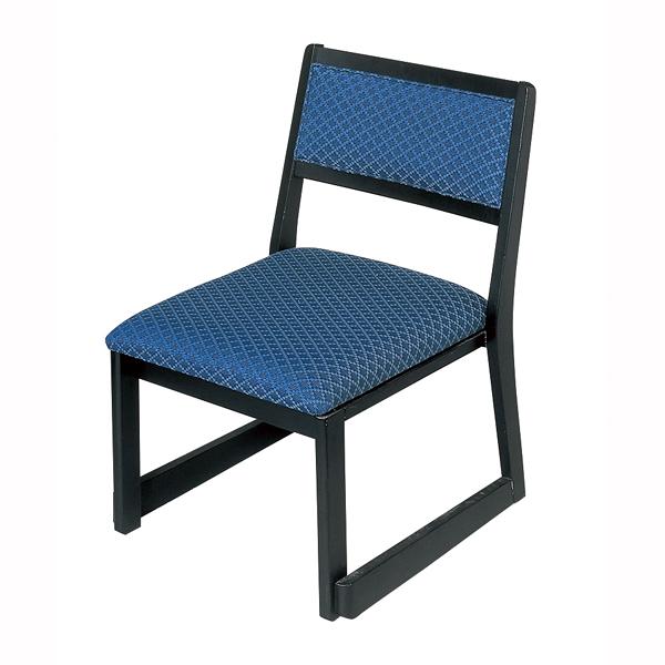 【 業務用 】木製都高座椅子 新雅(布)フレーム黒 12017585