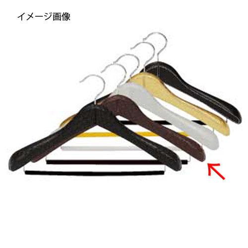 【まとめ買い10個セット品】 シンビ 合皮巻ハンガー(ピンチなし) TM-Q ブラウン