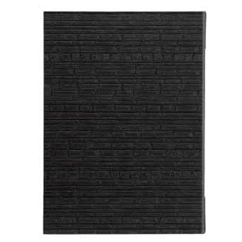 【まとめ買い10個セット品】 シンビ メニューブック E-205 横竹柄 黒