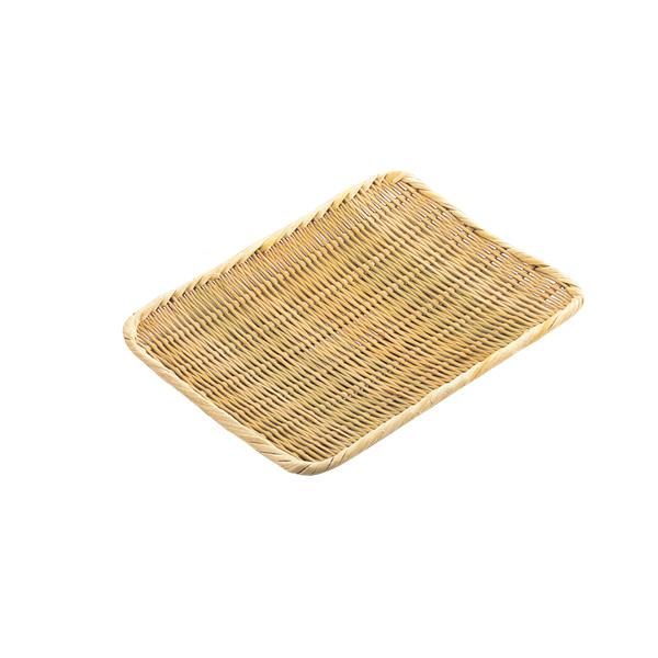 【まとめ買い10個セット品】 【即納】 竹製 角盆ザル 36cm 360×300mm 【厨房館】