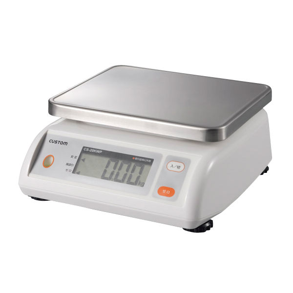【まとめ買い10個セット品】 カスタム 防水デジタルはかり CS-5000WP ひょう量:5000g 【厨房館】