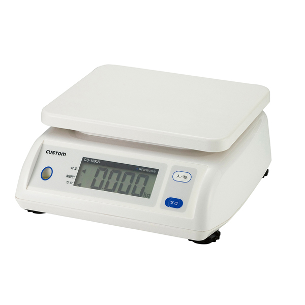 【まとめ買い10個セット品】 カスタム 防滴デジタルはかり CS-20KS ひょう量:20kg 【厨房館】