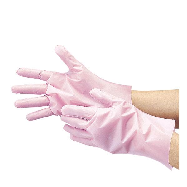 【まとめ買い10個セット品】 腕カバー付厚手手袋 No.140 M ピンク【使い捨て ゴム手袋 腕カバー 使いやすい】【厨房館】