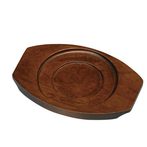 【まとめ買い10個セット品】 M40-980 鉄製グラタン皿用木台 【厨房館】