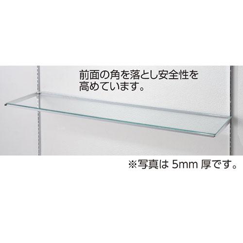 【 業務用 】10R ガラス棚セットW120cm インハングタイプ ガラス8mm厚 D40cm【店舗什器 パネル ディスプレー 棚 店舗備品】【厨房館】