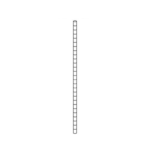 【まとめ買い10個セット品】 【 業務用 】ワイヤーラック ポール(φ25.4mm) H150cmタイプ 2本【店舗什器 パネル ディスプレー 棚 店舗備品】【厨房館】