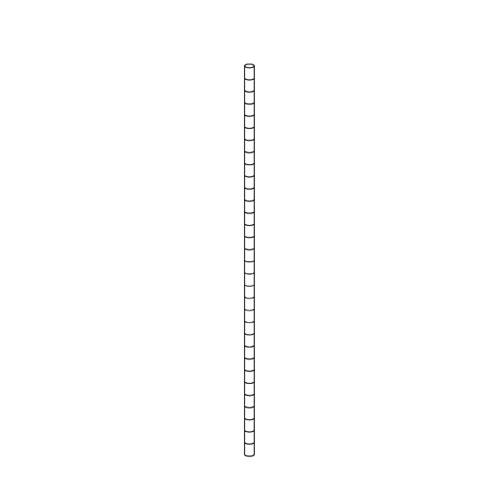 【まとめ買い10個セット品】 【 業務用 】ワイヤーラック ポール(φ25.4mm) H180cmタイプ 2本【店舗什器 パネル ディスプレー 棚 店舗備品】【厨房館】