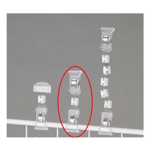 【まとめ買い10個セット品】 クリップポップ立て H9.4cm 20個【店舗什器 パネル 壁面 店舗備品 仕切 棚】【厨房館】
