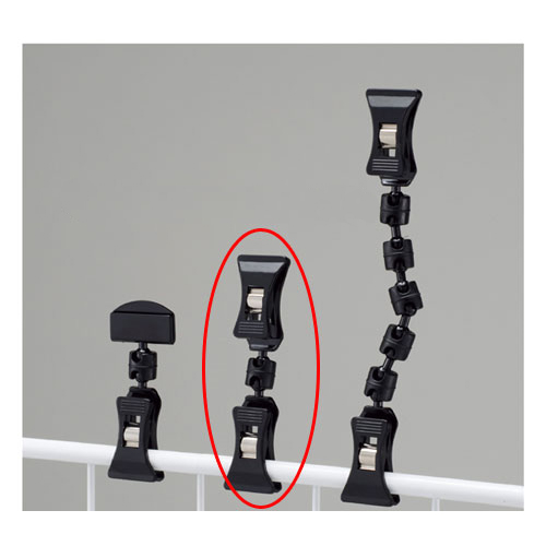 【まとめ買い10個セット品】 クリップポップ立て ブラック H9.4cm 20個【店舗什器 パネル 壁面 店舗備品 仕切 棚】【厨房館】