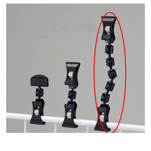 【まとめ買い10個セット品】 クリップポップ立て ブラック H16cm 10個【店舗什器 パネル 壁面 店舗備品 仕切 棚】【厨房館】