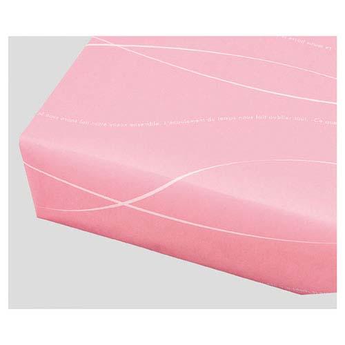 【まとめ買い10個セット品】 ウェーブ 半裁 ピンク 50枚【店舗什器 小物 ディスプレー ギフト ラッピング 包装紙 袋 消耗品 店舗備品】【厨房館】