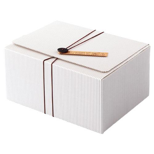 【まとめ買い10個セット品】 ボタンタグ付きホワイトギフトボックス 21.1×16.3×10.2 10枚【店舗什器 小物 ディスプレー ギフト ラッピング 包装紙 袋 消耗品 店舗備品】【厨房館】