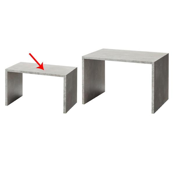 【まとめ買い10個セット品】 木製コの字ディスプレイ 大 セメント柄 【厨房館】