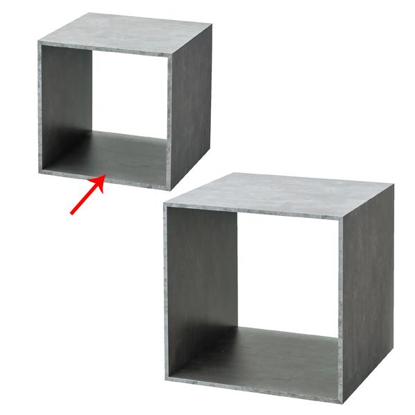 【まとめ買い10個セット品】 木製ディスプレイボックス 30cm角 セメント柄 【厨房館】