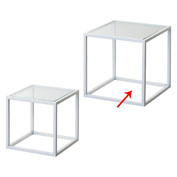 【まとめ買い10個セット品】 スチール製ボックス 中 白 【厨房館】