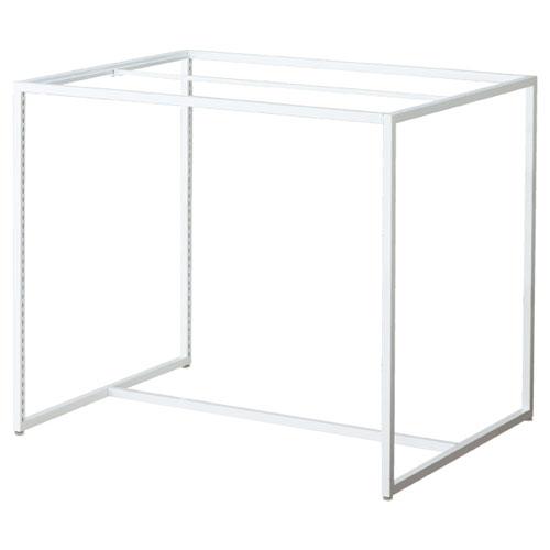 【 業務用 】スクエアフレーム ホワイト W120×D90cm【店舗什器 パネル 壁面 店舗備品 仕切 棚】【厨房館】