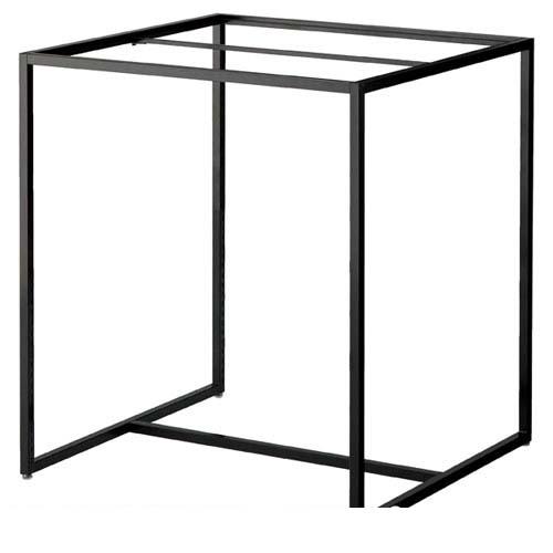 【 業務用 】スクエアフレーム ブラック W120×D90cm【店舗什器 パネル 壁面 店舗備品 仕切 棚】【厨房館】