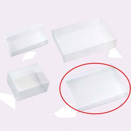 【まとめ買い10個セット品】 クリアボックス(かぶせ式) 長方形 33×25×4 5個【店舗什器 小物 ディスプレー ギフト ラッピング 包装紙 袋 消耗品 店舗備品】【厨房館】