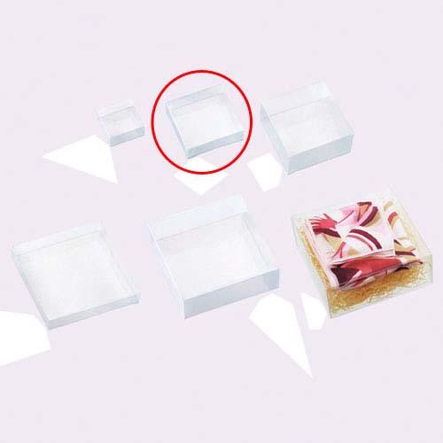 【まとめ買い10個セット品】 クリアボックス(かぶせ式) 正方形 8.5×8.5×2.5 10個【店舗什器 小物 ディスプレー ギフト ラッピング 包装紙 袋 消耗品 店舗備品】【厨房館】