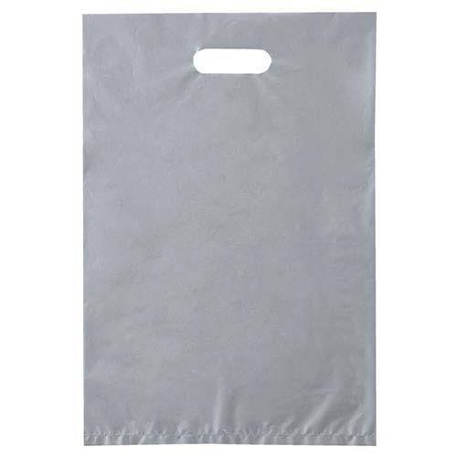 【まとめ買い10個セット品】 ポリ袋ハード型 カラー シルバー 30×45 1000枚【店舗什器 小物 ディスプレー ギフト ラッピング 包装紙 袋 消耗品 店舗備品】【厨房館】