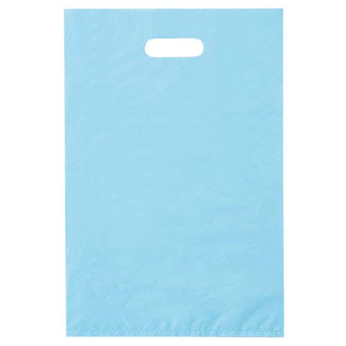【まとめ買い10個セット品】 ポリ袋ハード型 カラー ブルー 40×50 1000枚【店舗什器 小物 ディスプレー ギフト ラッピング 包装紙 袋 消耗品 店舗備品】【厨房館】