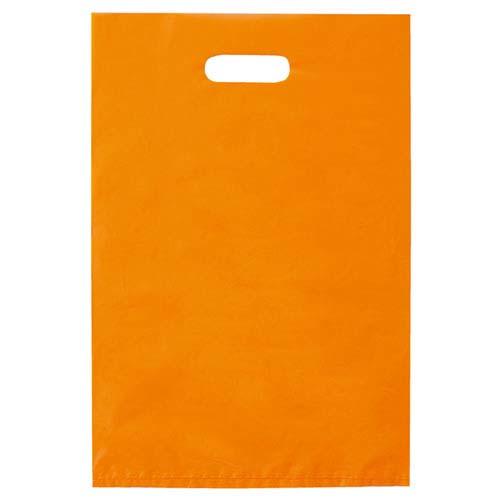 【まとめ買い10個セット品】 ポリ袋ハード型 カラー オレンジ 50×60 500枚【店舗什器 小物 ディスプレー ギフト ラッピング 包装紙 袋 消耗品 店舗備品】【厨房館】