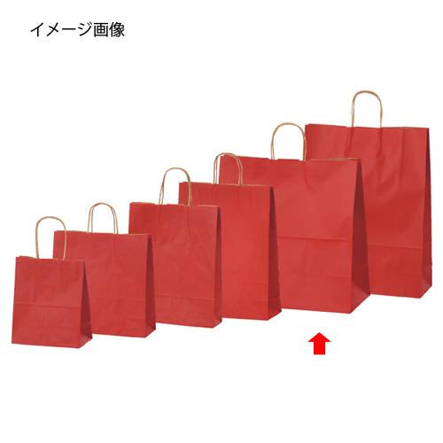【まとめ買い10個セット品】 カラー手提げ紙袋 レッド 45×22×45.5 200枚【店舗什器 小物 ディスプレー ギフト ラッピング 包装紙 袋 消耗品 店舗備品】【厨房館】
