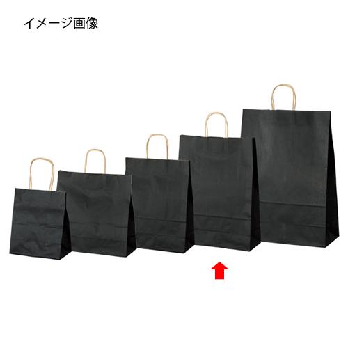 【まとめ買い10個セット品】 カラー手提げ紙袋 黒 32×11.5×41 200枚【店舗什器 小物 ディスプレー ギフト ラッピング 包装紙 袋 消耗品 店舗備品】【厨房館】