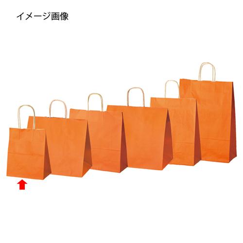 【まとめ買い10個セット品】 カラー手提げ紙袋 オレンジ 21×12×25 50枚【店舗什器 小物 ディスプレー ギフト ラッピング 包装紙 袋 消耗品 店舗備品】【厨房館】