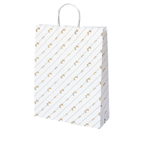 【まとめ買い10個セット品】 斜線リボン 27×8×34 50枚【店舗什器 小物 ディスプレー ギフト ラッピング 包装紙 袋 消耗品 店舗備品】【厨房館】