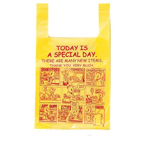 ジャンボバッグ アメリカンコミック 43×73(54)×横マチ18 500枚【店舗什器 小物 ディスプレー ギフト ラッピング 包装紙 袋 消耗品 店舗備品】【厨房館】