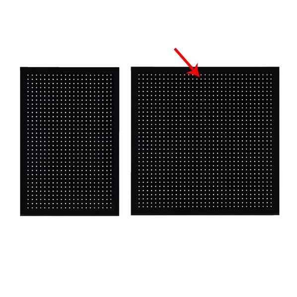 【まとめ買い10個セット品】 有孔ボードパネル 90×90cm ブラック 1枚 角バー取付き金具セット 【厨房館】