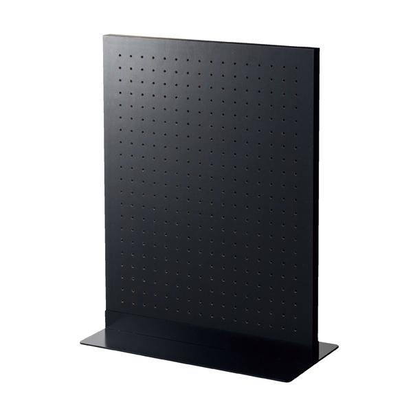 【まとめ買い10個セット品】 両面有孔パネルS 60×45cm ブラック+ベースブラック 【厨房館】