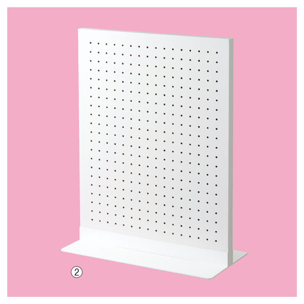 【まとめ買い10個セット品】 両面有孔パネルS 60×45cm ホワイト+ベースホワイト 【厨房館】