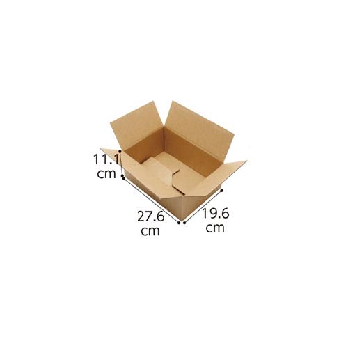 【まとめ買い10個セット品】 ワンタッチダンボール 宅配サイズ 27.6×19.6×11.1cm 20枚【店舗什器 小物 ディスプレー ギフト ラッピング 包装紙 袋 消耗品 店舗備品】【厨房館】