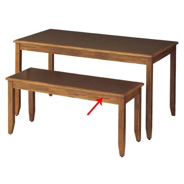 【まとめ買い10個セット品】 ナチュリアテーブル W120×D45×H55cm ブラウン 【厨房館】