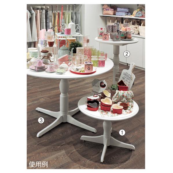 【まとめ買い10個セット品】 ネストカントリーテーブル 60cm ハイテーブルホワイト 【厨房館】