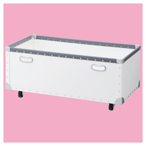 【まとめ買い10個セット品】 ファイバーボックス ホワイト W90cm 【厨房館】