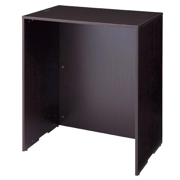 【まとめ買い10個セット品】 木製カウンターH100cm W90cm ダークブラウン 【厨房館】