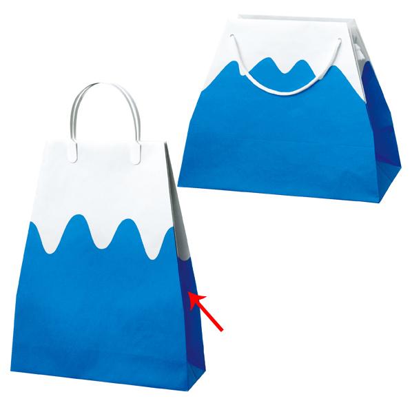 【まとめ買い10個セット品】 富士山バッグ 手提紙袋 32×39cm10枚 横マチ10cm 【厨房館】